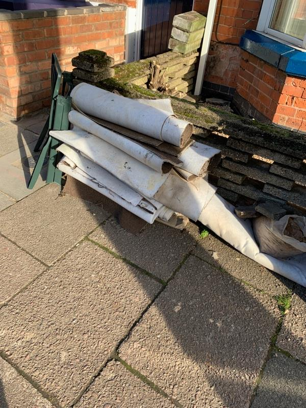 Rubbish in street-17 Harrow Rd, Leicester LE3 0JY, UK