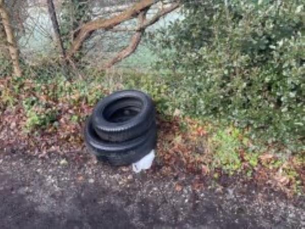 Please clear flytip of tyres-41 Sydenham Rise, London, SE23 3XL
