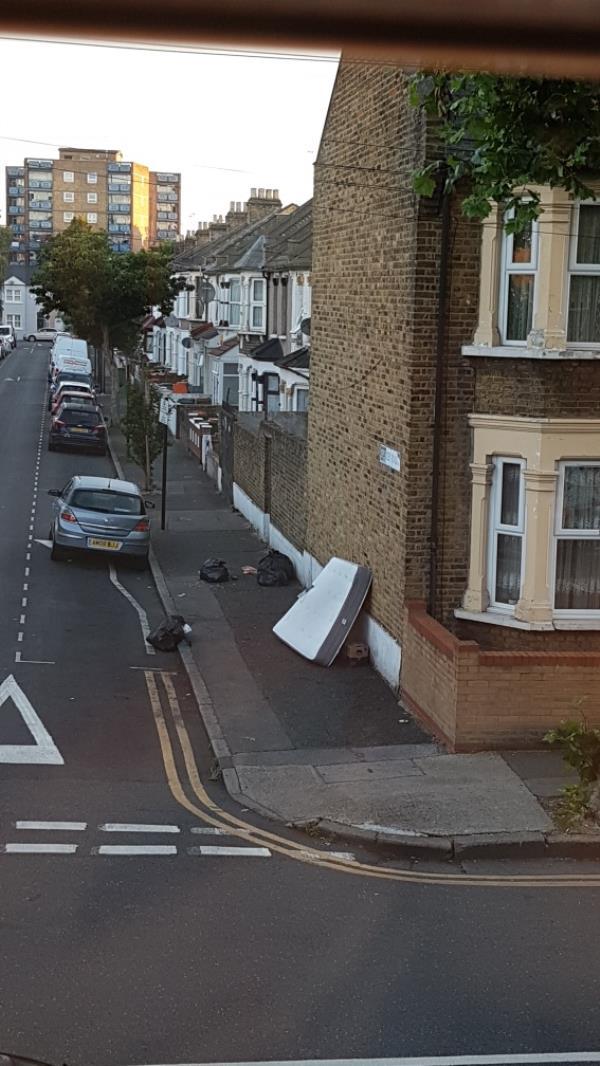 mattress and bags -130 Grangewood Street, East Ham, E6 1HD