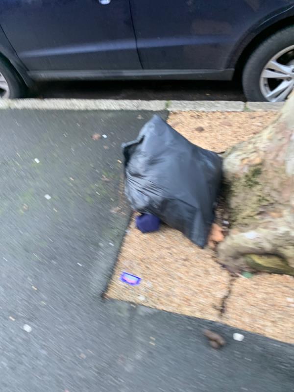 Flytip bag please remove -133 Earlham Grove, London, E7 9AP