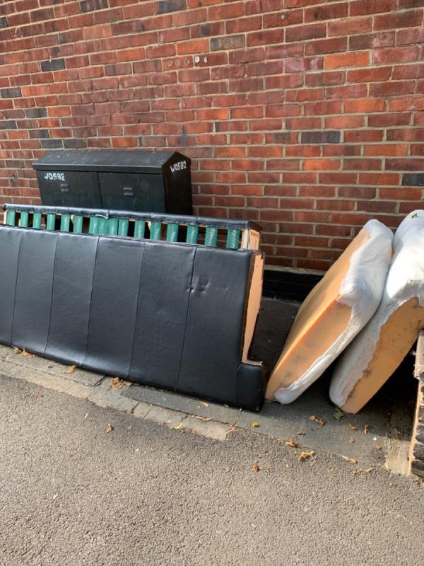 Bed dumped -20a Windsor Road, London, E7 0QX