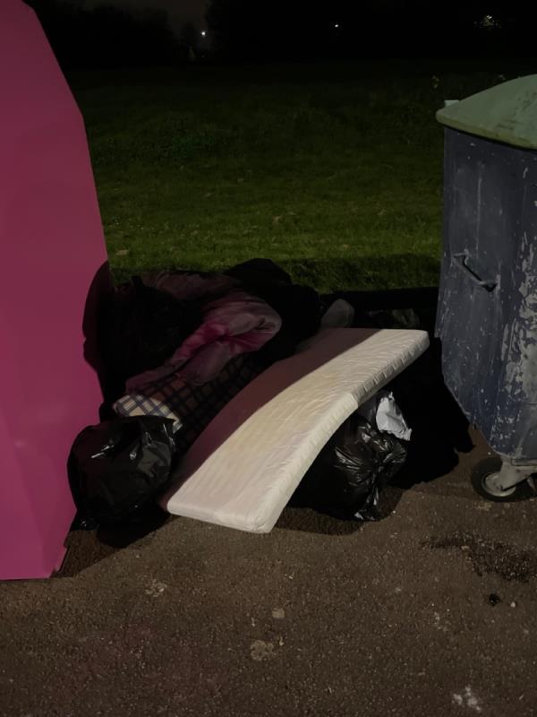 Dumped mattress and duvets -75 Jade Cl, London E16 3TZ, UK