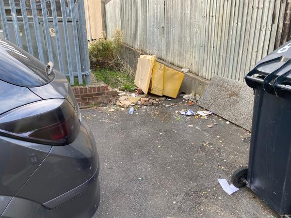Litter everywhere, especially after a weekend! I think this area would benefit for some litter bins-35 Strathy Close, Reading, RG30 2PP