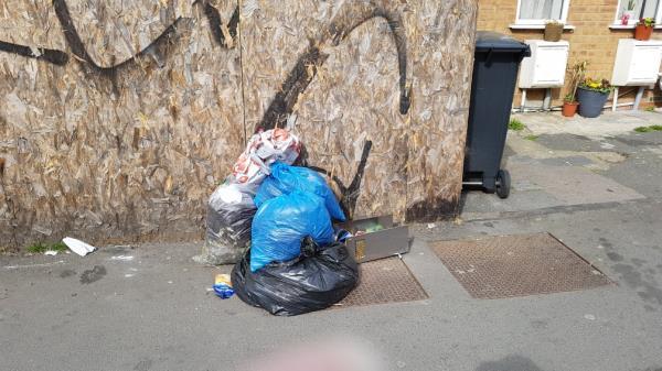 Bags of rubbish -39 Sangley Road, London, SE6 2JH
