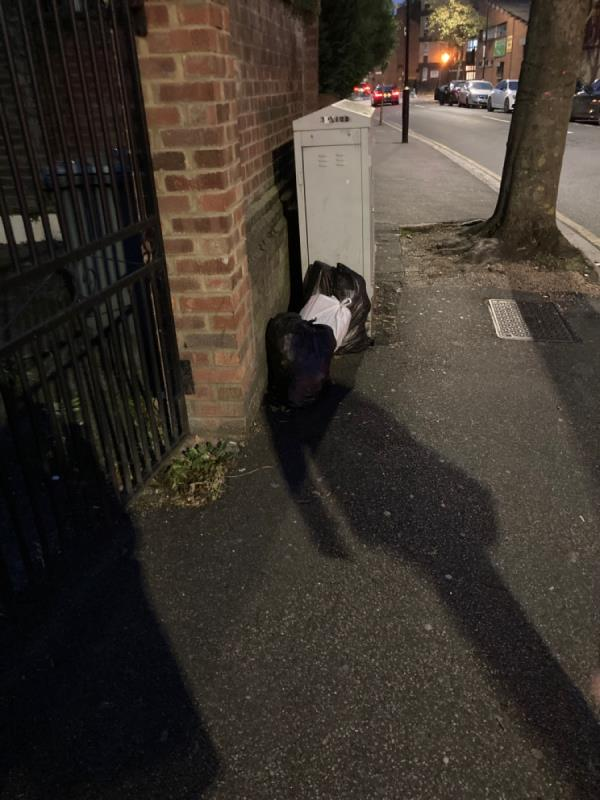 Rubbish bags -1A Boundary Rd, London E13 9PS, UK