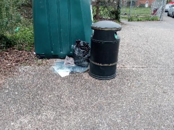 Rubbish around the bottlebank removed -172 Corwen Road, Reading, RG30 4TA