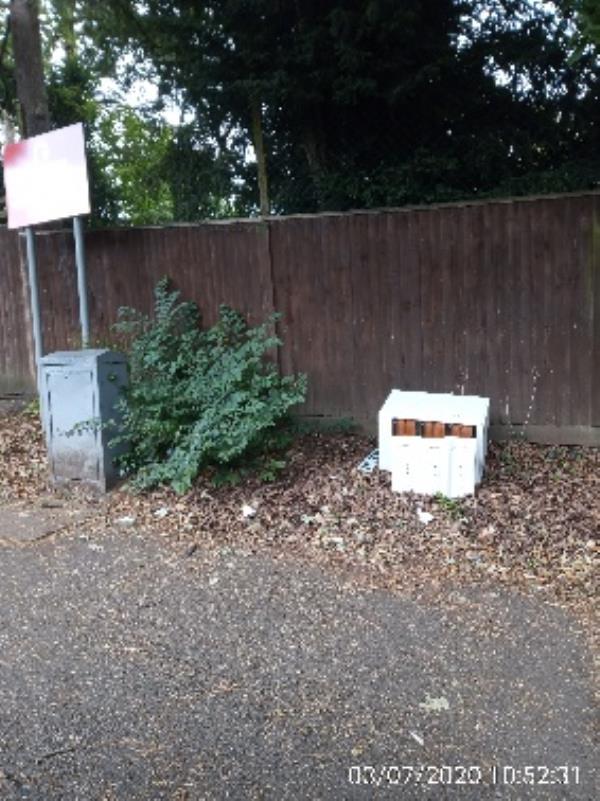Wooden furniture in front of St Edwards prep on Western elms avenue-61 Western Elms Ave, Reading RG30 2AL, UK