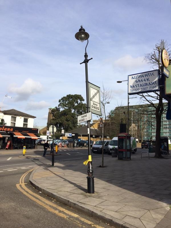 Lamppost -124 Uxbridge Road, London, W13 8