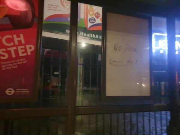 bus stop-Uxbridge Road, London, UB1 3DZ