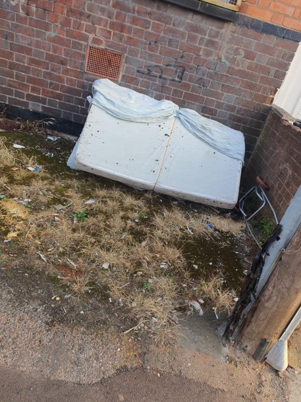 Few mattresses dumped on the side-20 Prestwold Road, Leicester, LE5 0EW
