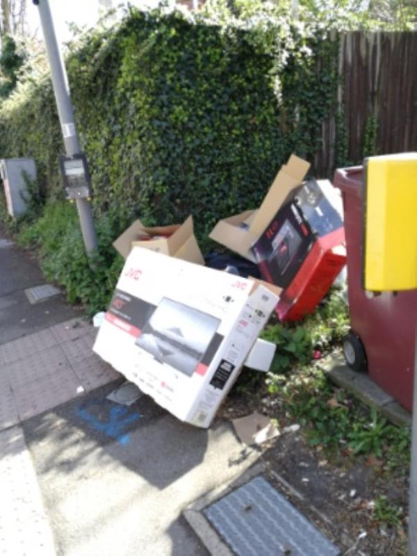 rubbish left by pedestrian lights.-9 Christchurch Road, Reading, RG2 7AG