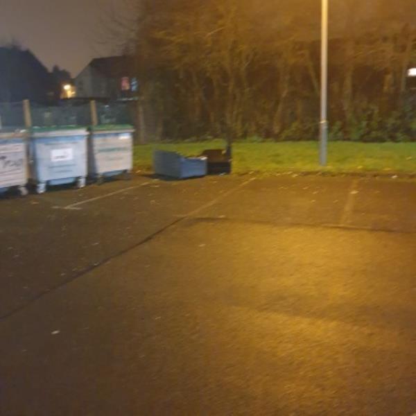furniture dumped on Community Centre car park-148 Dunstall Road, Wolverhampton, WV6 0NL
