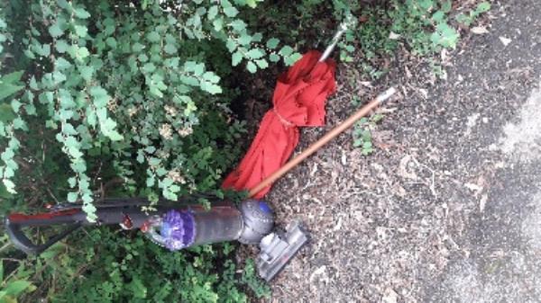 Dumped household items outside no 24 Cambridge Rd-24 Cambridge Road, Aldershot, GU11 3JZ