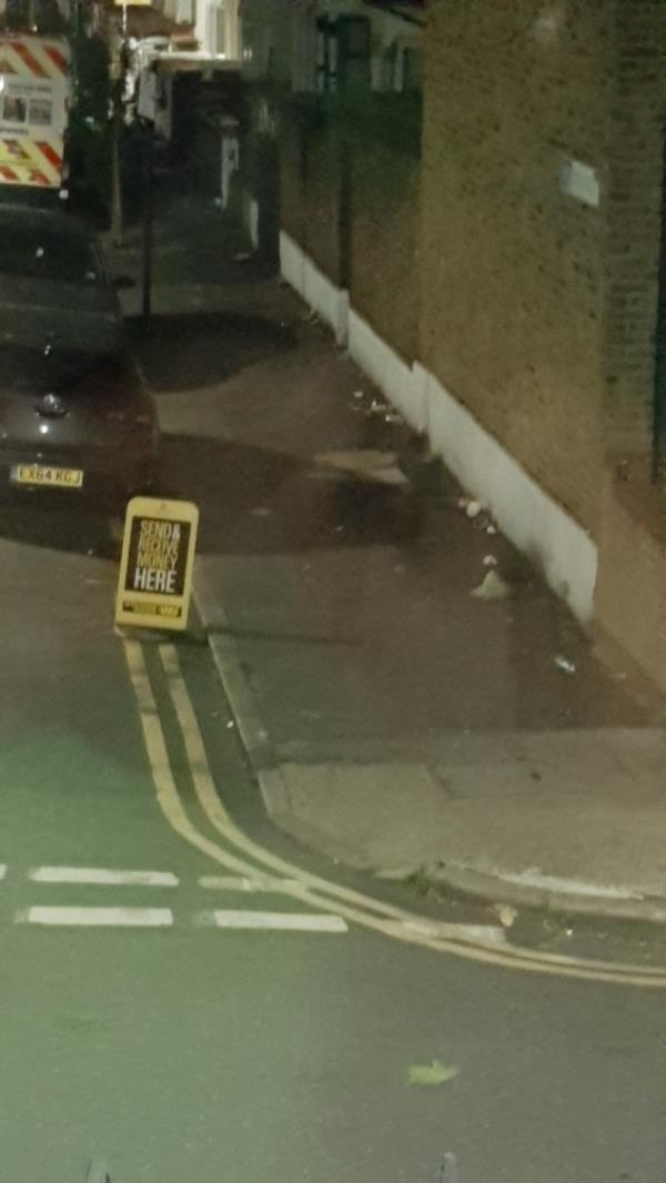 metal sign and rubbish on the floor-132 Grangewood Street, East Ham, E6 1HD