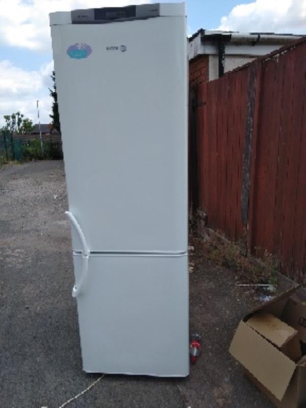 dumped fridge freezer-34 Newbolt Road, Bilston, WV14 7NP