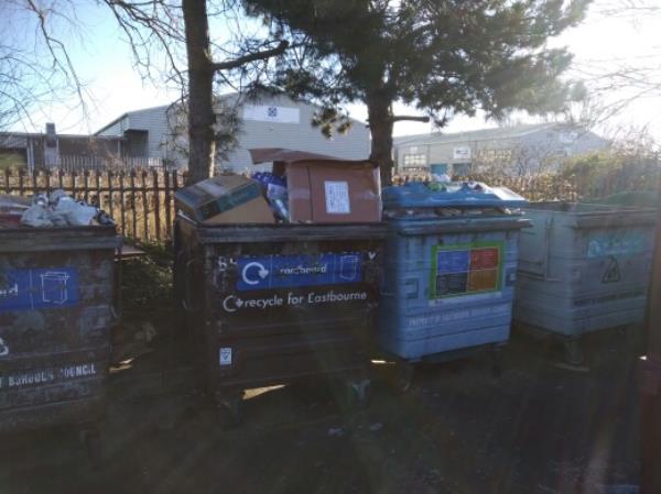 kier from NP Zone2 EBC 11/2/19 please empty the bring site at Sainsburys Cross Levels Way -Harvington Business Park Brampton Road, Eastbourne, BN22 9