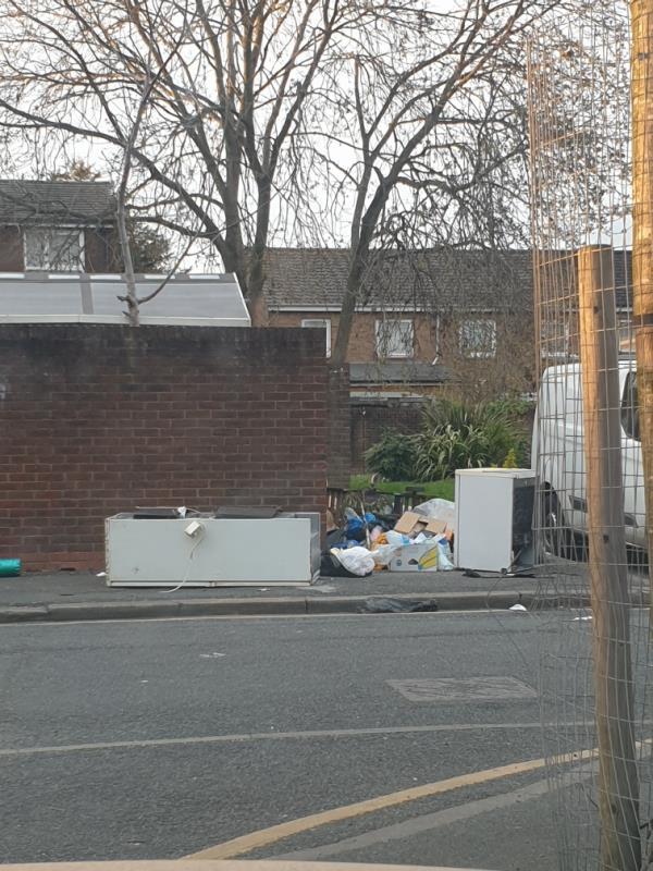 Hazel Road and walnut Gardens junction -13 Walnut Gardens, London, E15 1LL
