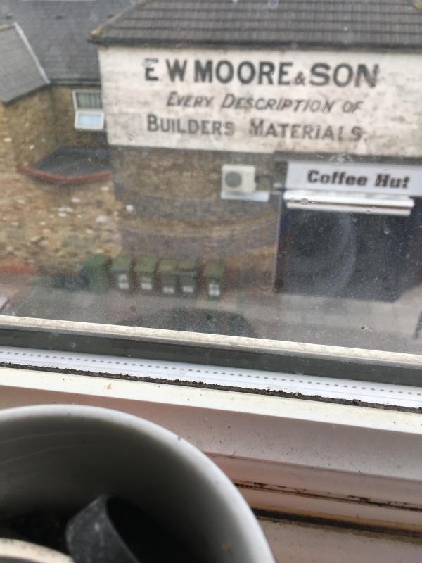 Bags beside bins at side of Coffee Hut in Waterloo Road E6 1AP -39a Plashet Grove,side of Coffee Hut  London, E6 1AD