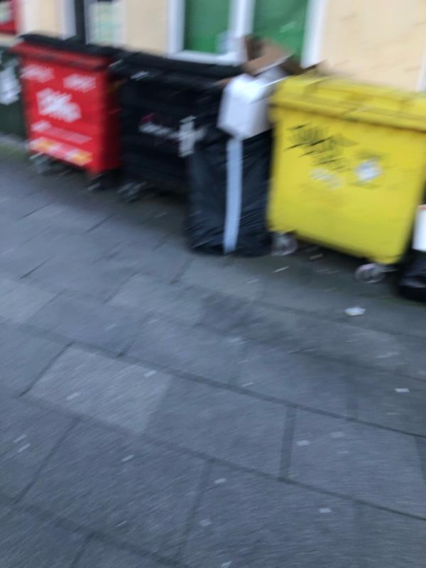 Bags of rubbish -353 High St, London E15 4QZ, UK