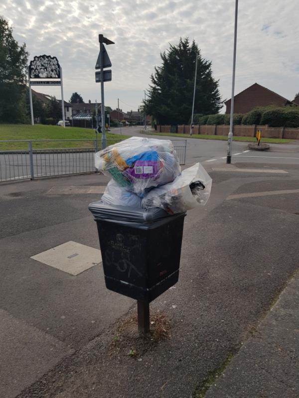 Overflowing bins-177-179 Whitley Wood Lane, Reading, RG2 8PW