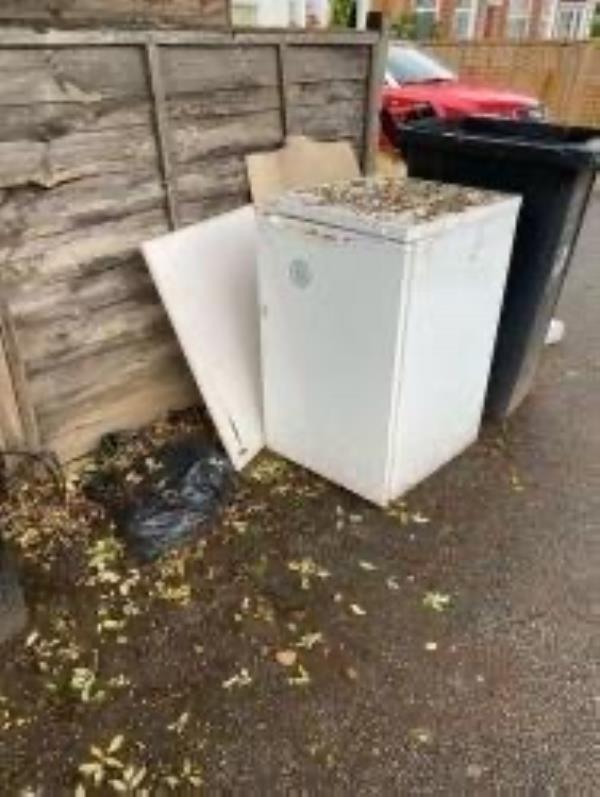 Junction of Sandhurst Road. Please clear a fridge-133 Wellmeadow Road, London, SE6 1HP