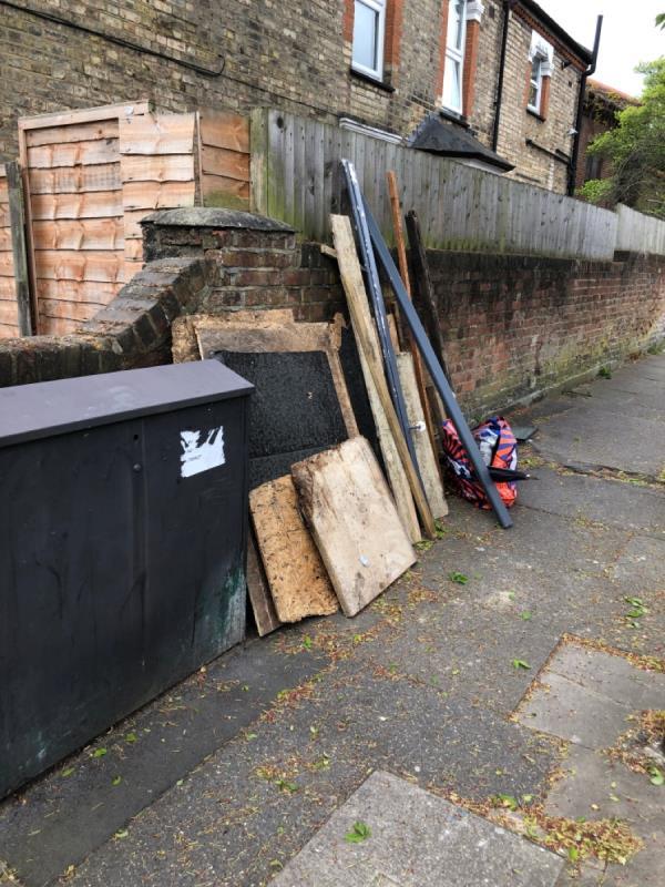 Dumped household rubbish -13 Chester Road, Tottenham, N17 6EA