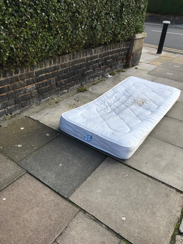 Dumped mattress-2a Boundary Road, London, N22 6AD