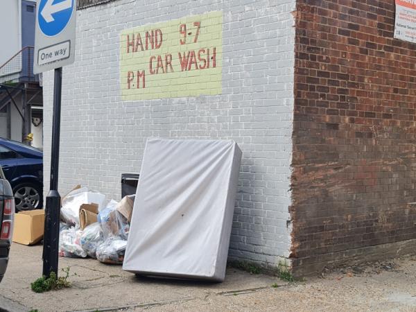 Bed base and 6-7 plastic bags-3 Aintree Avenue, East Ham, E6 1NX