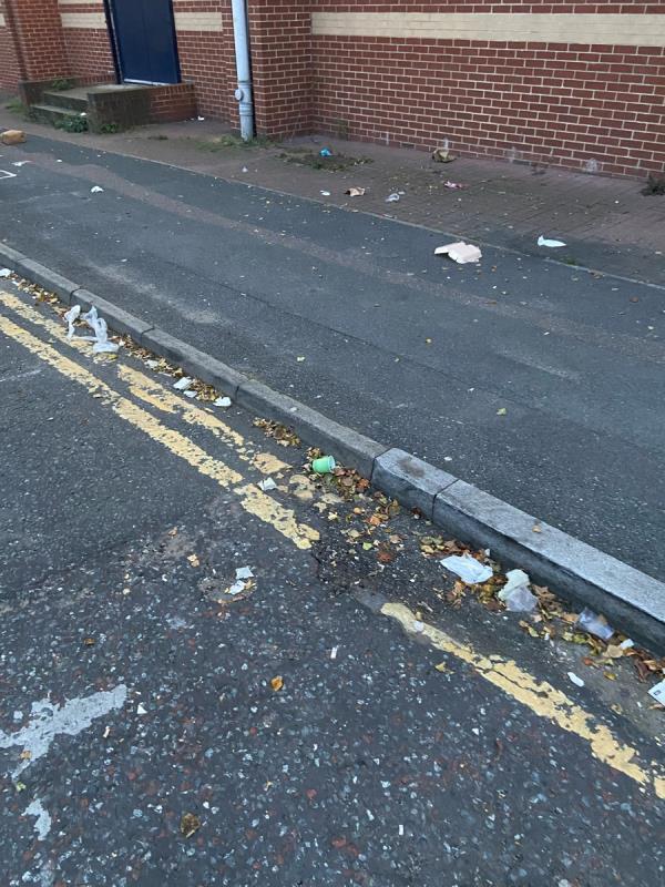 Street is covered in litter! -114 Burford Rd, London E15 2SP, UK
