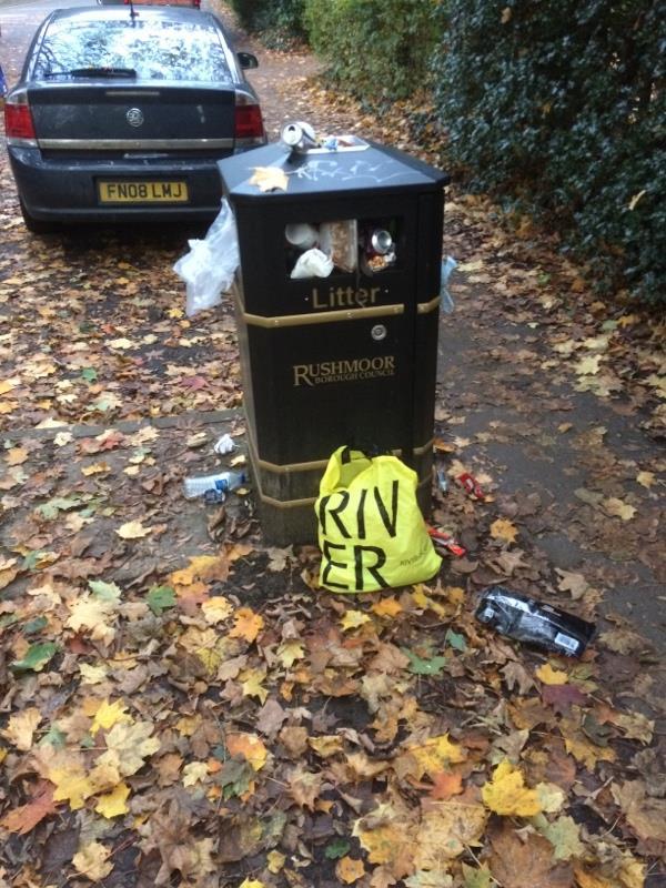 Bin full up -Highgate Court, 119 Highgate Lane, Farnborough, GU14 8AA
