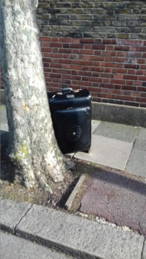 A travelling bag dumped near 1 Walton Road -2a Walton Road, London, E13 9DB