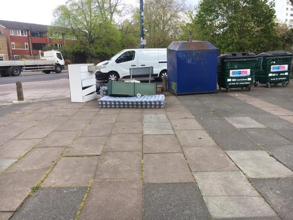 Furniture flytip-17 Taunton Road, London, SE12 8PQ