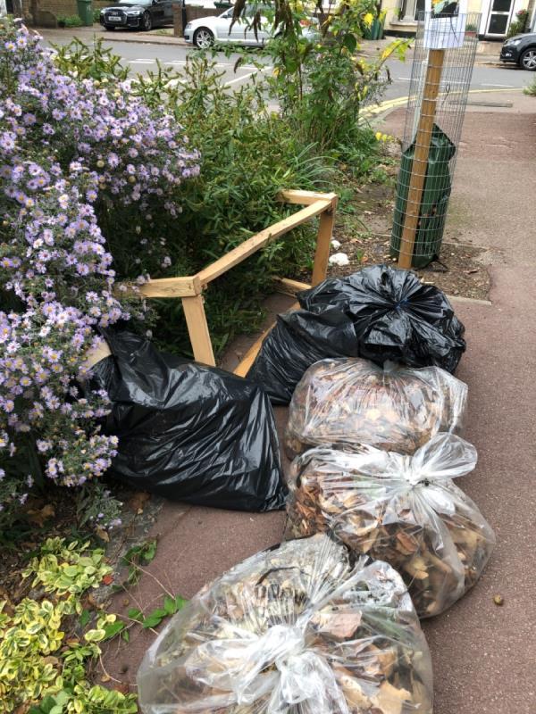 Rubbish and broken furniture -55 Durham Rd, London E12 5AY, UK