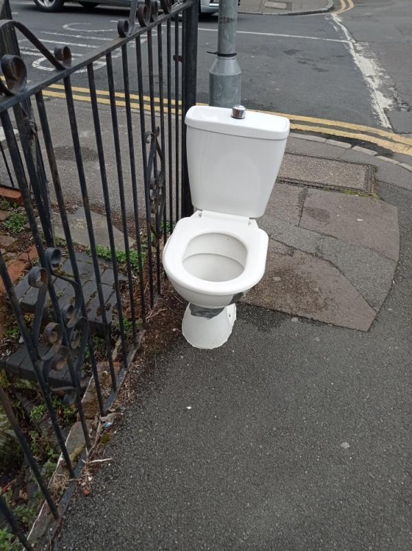 Toilet dumped in broad daylight-52 Waylen Street, Reading, RG1 7UR