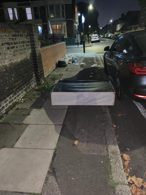 Bottom of a bed dumped-41B Clova Rd, London E7 9AQ, UK