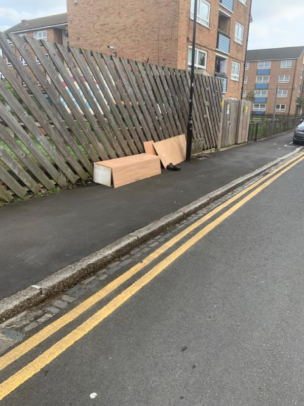 Wardrobes dumped outside community garden -1a Durham Road, London, E12 5AY