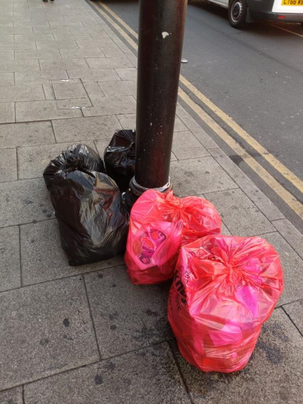 trash on street-Overdraft Tavern, 200-202 High St N, East Ham, London E6 2JA, UK