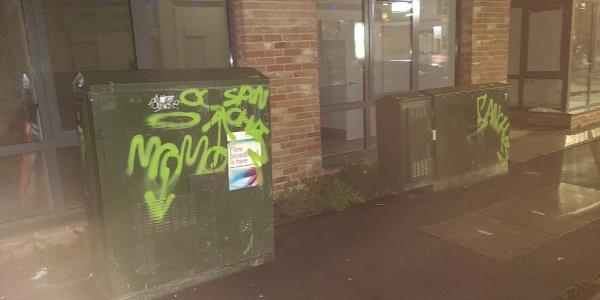 graffiti at Buxton Road off Leytonstone Road-60a Leytonstone Road, London, E15 1SQ