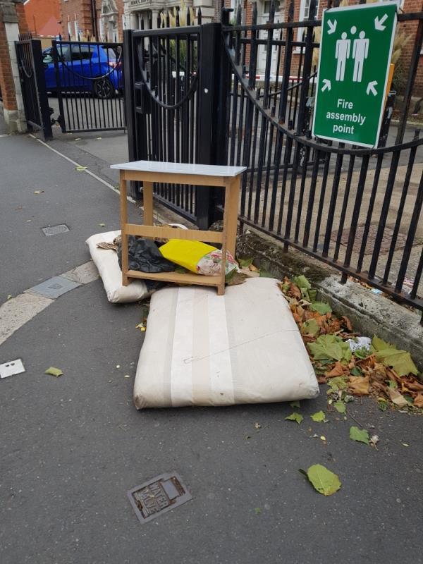 more rubbish just dimped in the street-East Ham Memorial Building 300b Shrewsbury Road, Upton Park, E7 8QP