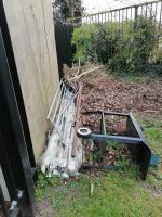 Looks like local builders rubbish plus dead Xmas trees dump image 2-167 FRENSHAM, London, SW15 3ED