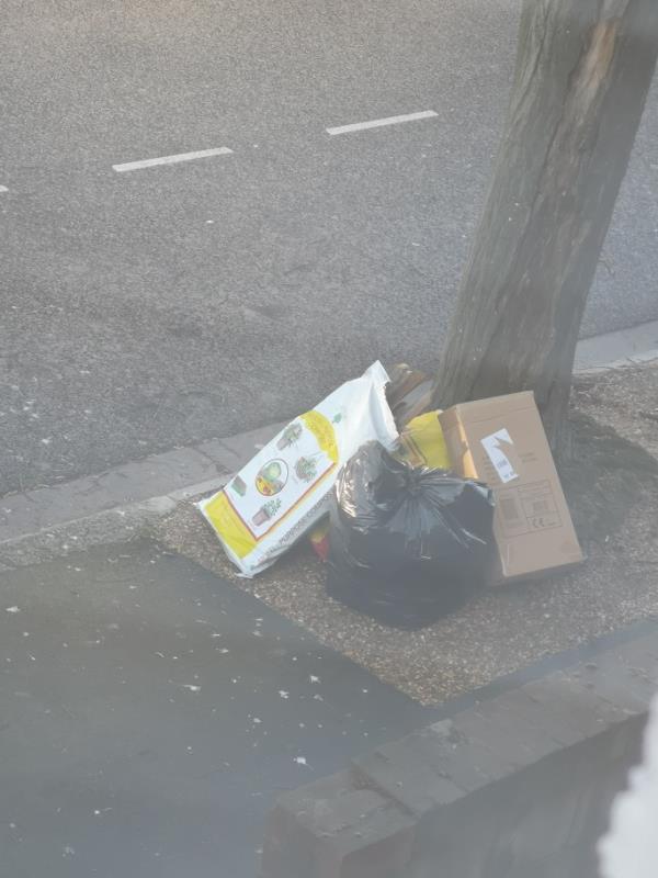 number 66 Frinton road dumped rubbish outside -66 Frinton Road, London, E6 3HA