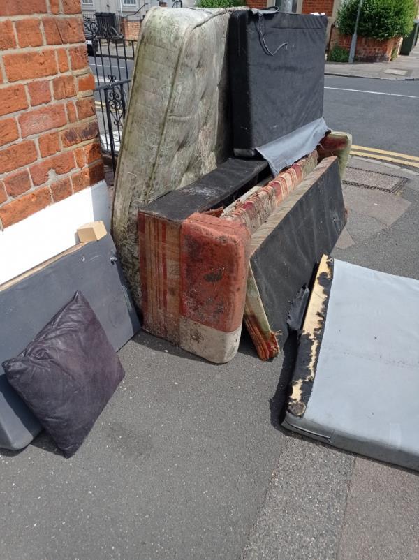 Furniture dumped corner Baker St / Waylen St-12 Baker Street, Reading, RG1 7XX