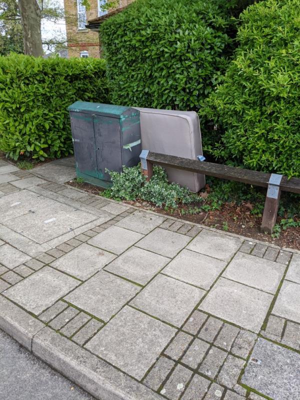 Mattress dumped. -56 Lullingstone Lane, London, SE13 6UH