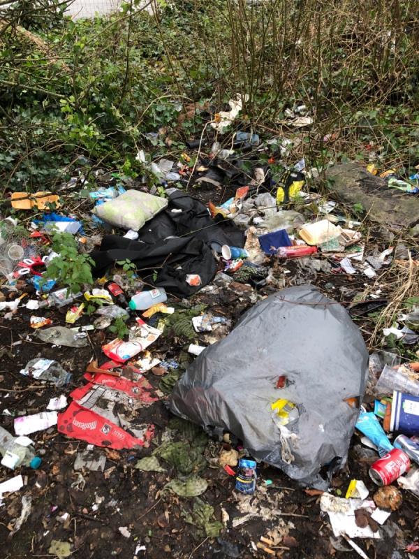 Rubbish tipped-95 Church Street, Wolverhampton, WV14 0BJ