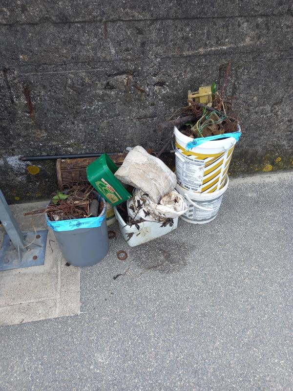 Flytipped waste by Sugar Basin slip., can it be collected please-York Farm W, Jersey JE3, Jersey