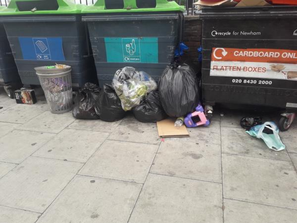 5 black bags 1 washing basket-2 Carpenters Road, London, E15 2NE