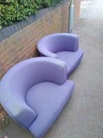 Sofa chairs left out for someone to take? Or flytipped sofa. Have taken as blocking pathway a trip hazard.  image 1-87 Stanhope Road, Reading, RG2 7HW