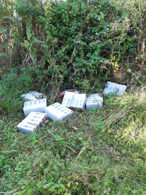 Looks like abandoned batteries -Rose Kiln Lane, Reading, RG2 0SF