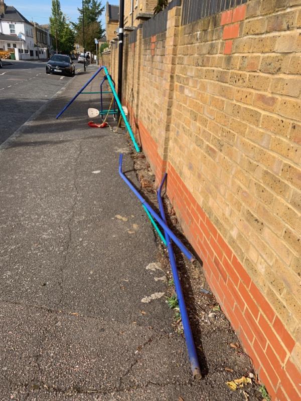 Stuff dumped-30 Salisbury Road, London, E7 9JX