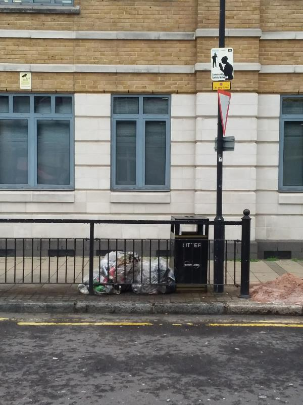 Bin Bags and Litter left at this location-13 Victoria St, London E15 4PP, UK